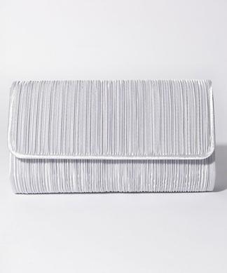 プリーツ織りクラッチバッグ