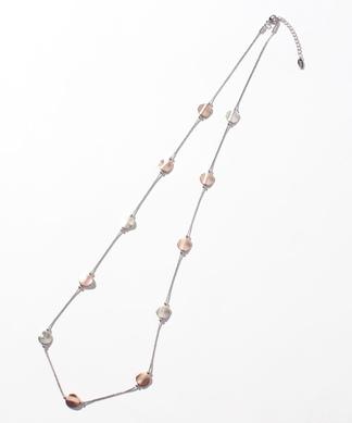 ノービジューメタルプレートネックレス