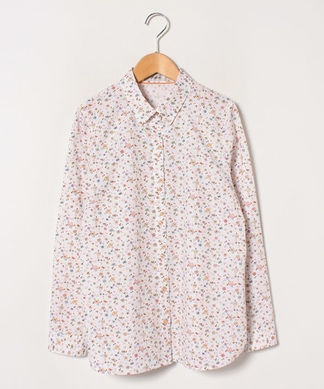 バタフライプリントシャツ