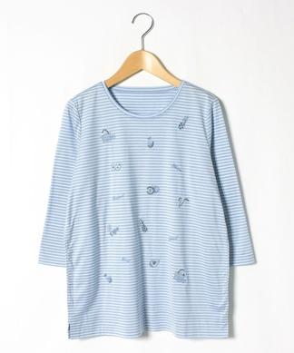 ビジュー刺繍Tシャツ