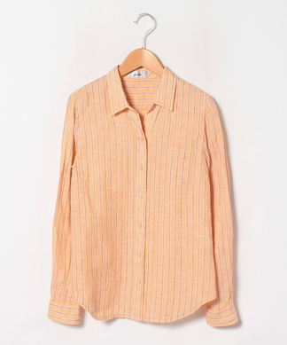 ストライプリネンシャツ