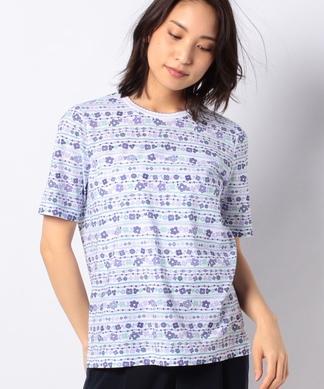 フラワーモチーフ柄Tシャツ