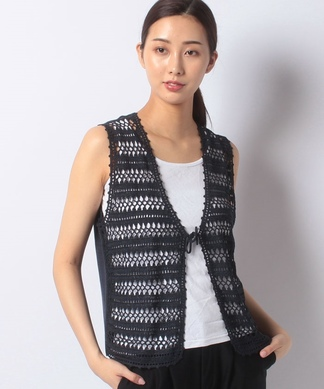 レース編みベスト