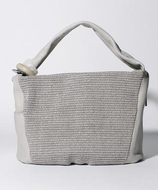 雑材風素材ハンドバッグ
