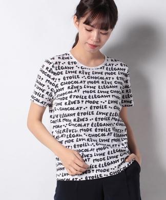 総柄ロゴTシャツ