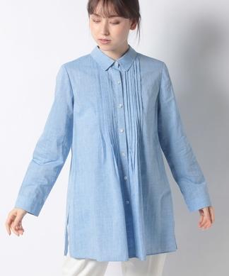 チュニック丈長袖シャツ