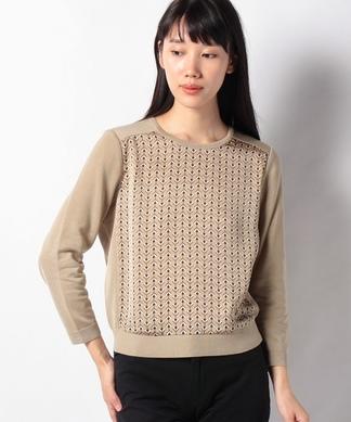 異素材切り替えセーター