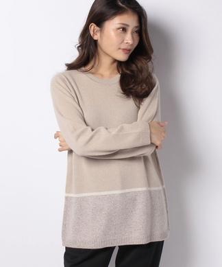 カシミヤチュニックセーター