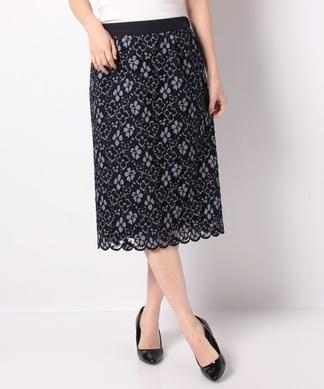 スカラップレーシータイトスカート