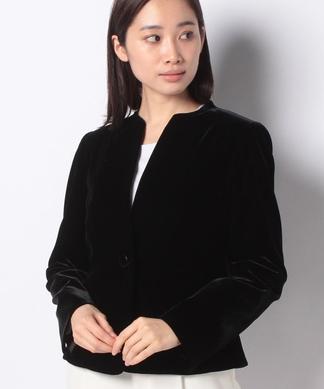 【セレモニー】ノーカラーデザインジャケット