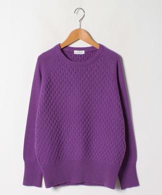 柄編みミックスセーター