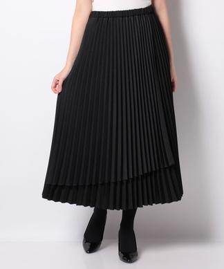 プリ-ツ切替えロングスカート