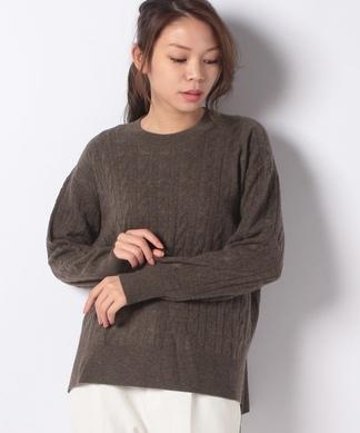 【my perfect wardrobe】カシミヤケーブルニット