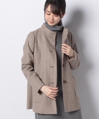 【AGNONA】チェック柄コート