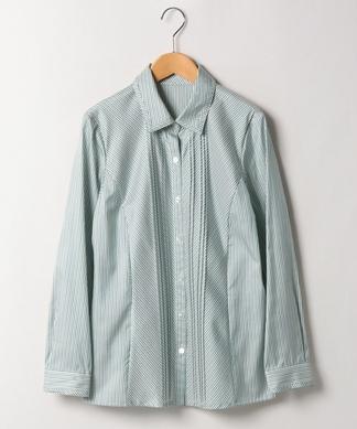 配色ストライプシャツ