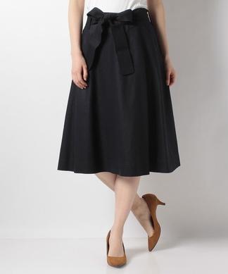 【特別提供品】リボンベルト付きフレアスカート