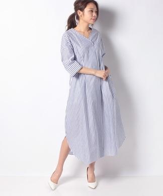 【my perfect wardrobe】ストライプシャツワンピース