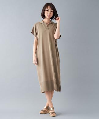 【my perfect wardrobe】ポロ襟ニットワンピ-ス