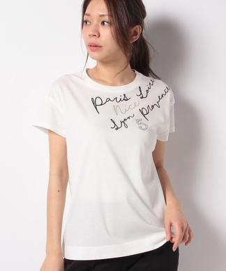 アシメロゴTシャツ