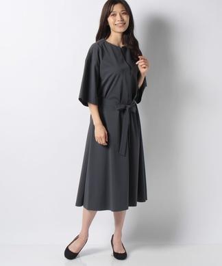 【my perfect wardrobe】ミモレ丈7分袖ワンピース