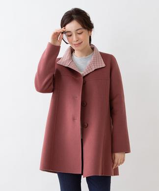 カシミヤミドル丈コート