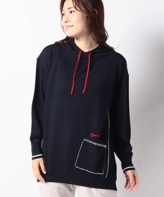 【Leilian WHITE LABEL】フーディーニットセーター
