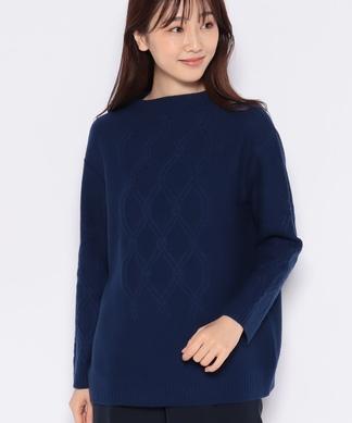 柄編みセ-タ-