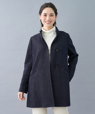 【ウインターコレクション】スタンドカラーコート