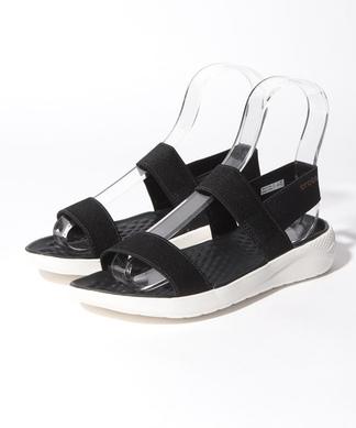 【crocs】フラットサンダル