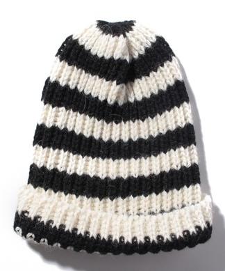 ボーダーニット帽子