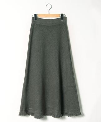 フレアロングニットスカート