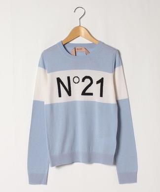 【N21】ロゴニットトップ