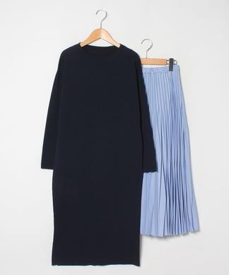 【ELENDEEK】ワンピース×プリーツスカートセット
