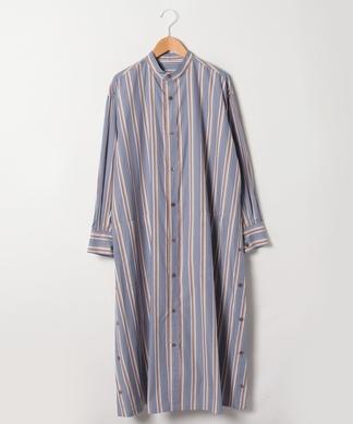 【Robes&Confections】スタンドカラーシャツワンピース
