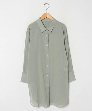 ロングコットンシャツ