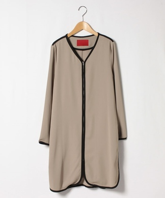 【TRANOI】ロングジップジャケット