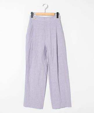 【VillD】ニュアンスカラー麻素材パンツ