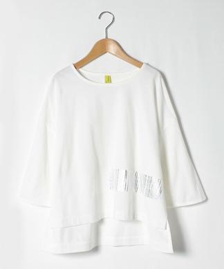 【LIROMA】七分袖ロゴ入りカットソー