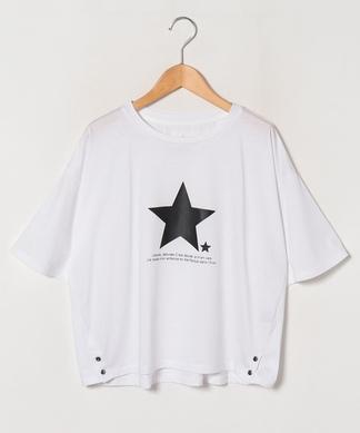 【ayane】スター×ロゴプリントTシャツ