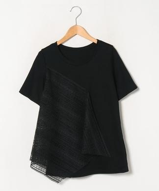 【LIROMA】レース×クルーネックTシャツ
