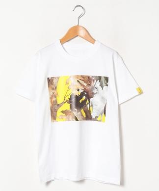 【LIROMA】コラージュプリントTシャツ