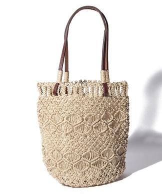 【Welbec】透かし編みトートバッグ