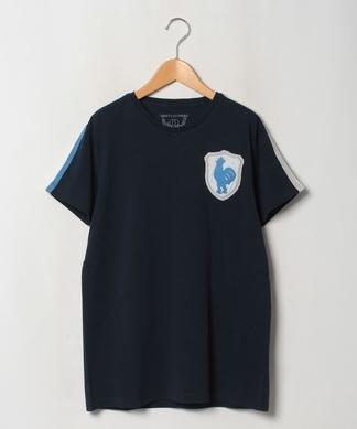 配色×ワッペンTシャツ