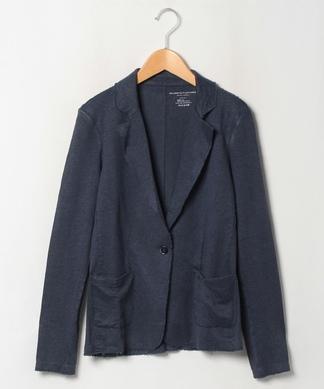 麻ベース素材ジャケット