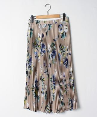 フラワーロングプリーツスカート