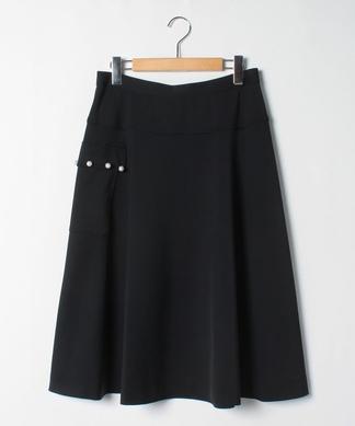 サイドパールフレアスカート