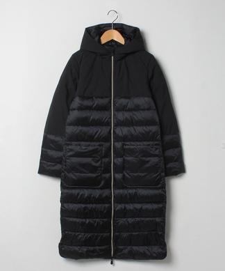 【ALPHA STUDIO】切替えロング中綿コート