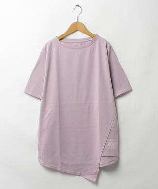 変形5分袖カットソー
