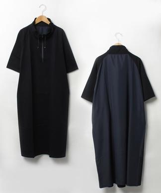 【Liriito】ジップハイネックワンピ-ス
