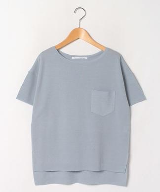 【THOUSAND CONNECTION】ポケット付半袖ニットプルオーバー